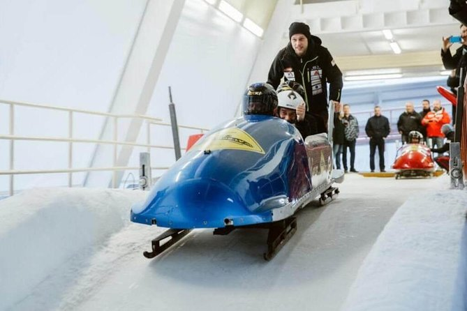 "Riga (Sigulda) Winter Bobsleigh ""Olympic + Vuchko"" Ride - Guided with Transfers"