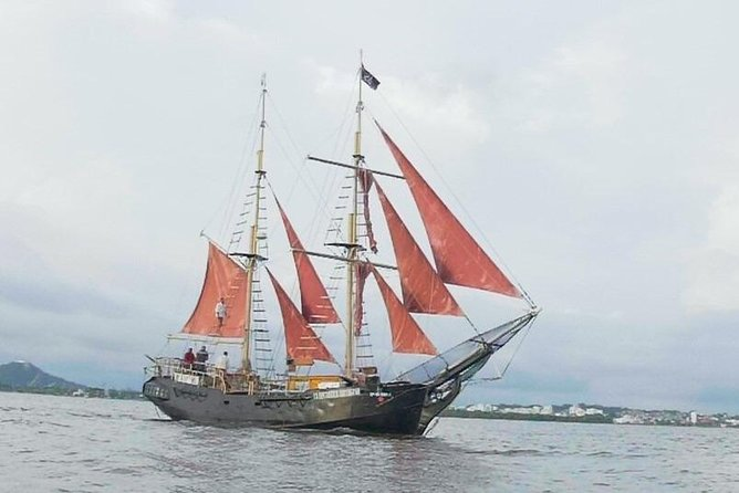 Island Beach Trip on a Pirate Sail Boat Drinks Included