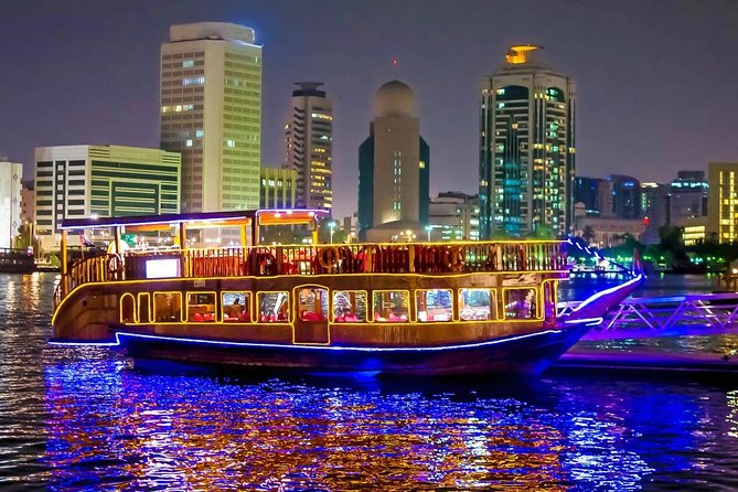 Dubai City Tour + Dhow Cruise Canal with Transfer