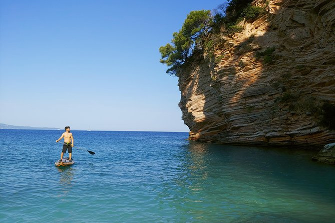 Paddleboarding in the island