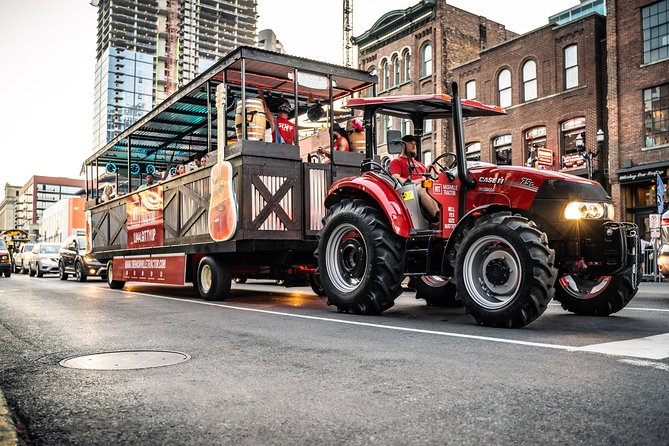 Private Downtown Nashville Party Tractor Tour with Dance Floor & Onboard Bar