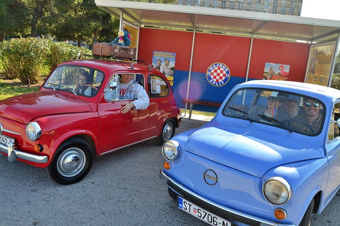 Supermini, guided city roadtrip, oldtimer Fico, Split
