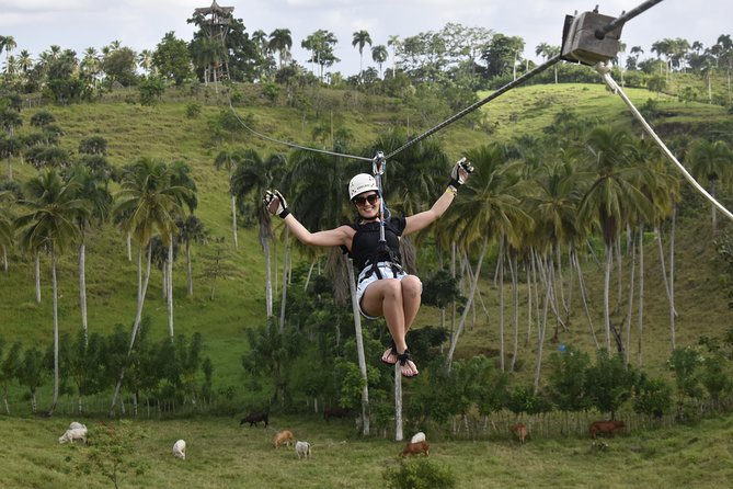 Ziplining from Punta Cana - Unique Carbon Fiber lines in Punta Cana