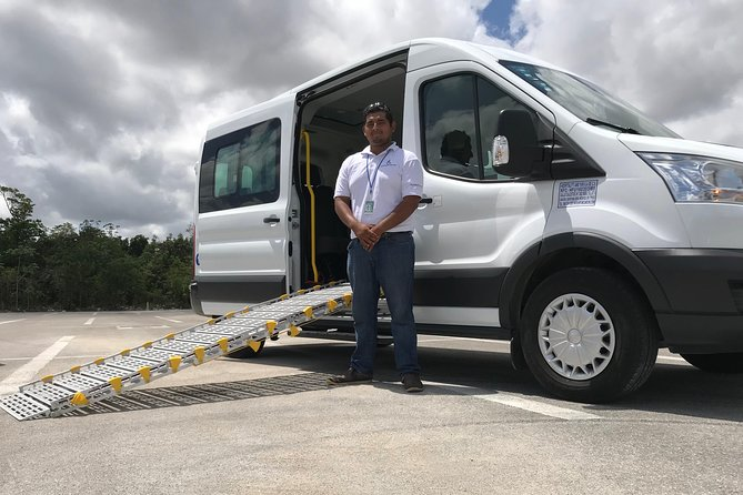 Transportation adapted round trip from Cancun Airport to Hotel Riviera Maya