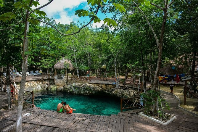 4 PLACES 1 DAY Tour to Coba and Tulum Ruins, Cenote and Playa del Carmen.