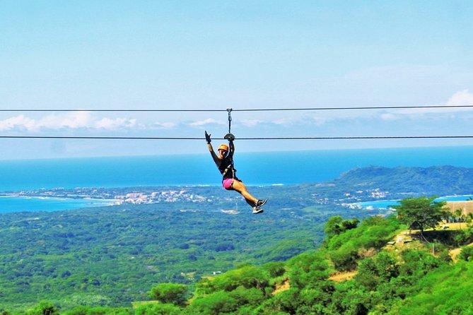 Ziplines with ocean views