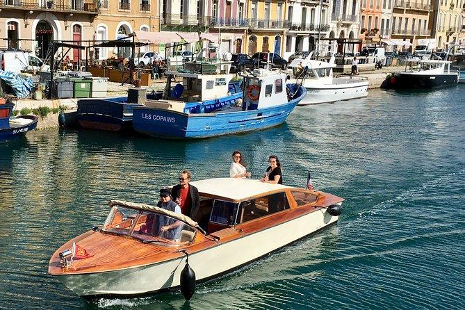 Enjoy cruising through the canals of Sète in Venetian elegance