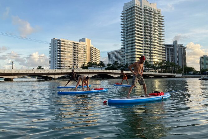 Paddle Board Yoga class at Shoreside Club
