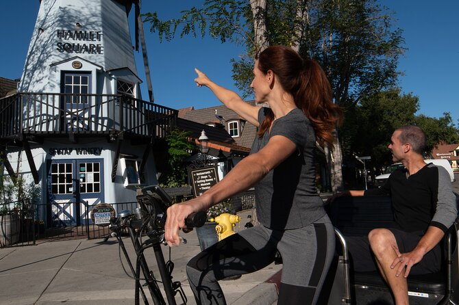 Private Guided Pedicab Tour of Solvang with Wine Tasting