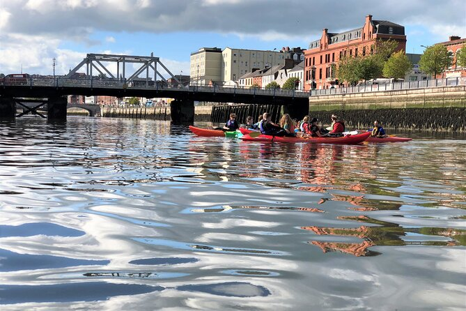 Kayaking under the bridges of Cork City. Private guided. 2½ hours.