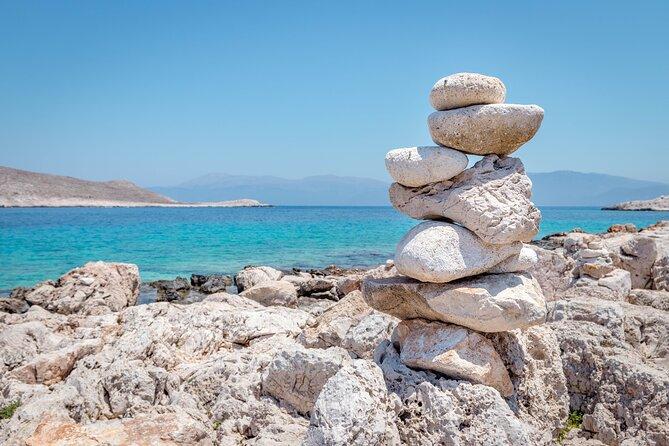 Halki Island day trip from Rhodes Island with transfer to Kamiros Skala Port