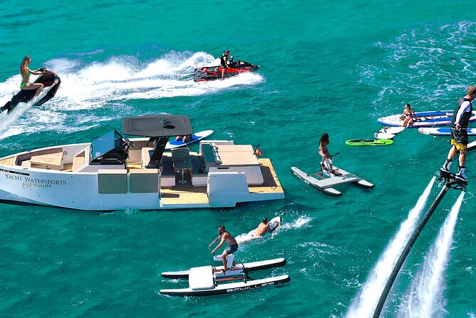 Ibiza's No. 1 activity! Luxury designer yacht + top luxury watersports!