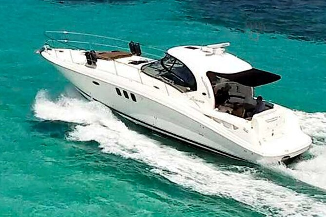 Private Tour from Cancun to Isla Mujeres on a 42 Foot Yacht.