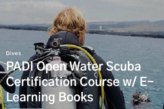 Padi Open Water Certification Course (Private Class)
