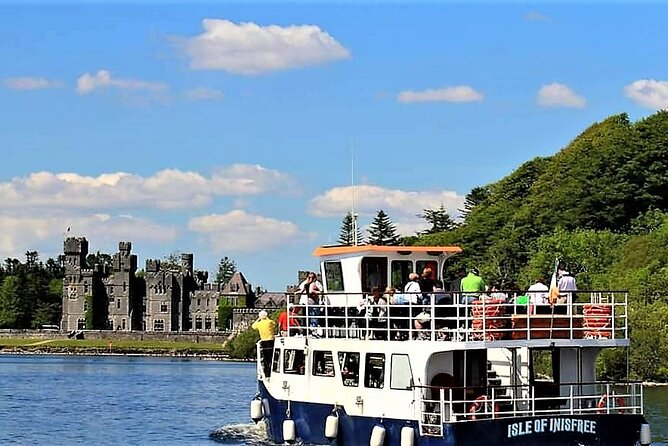 Lough Corrib cruise from Ashford Castle and Cong. Mayo. Guided. 2 hours