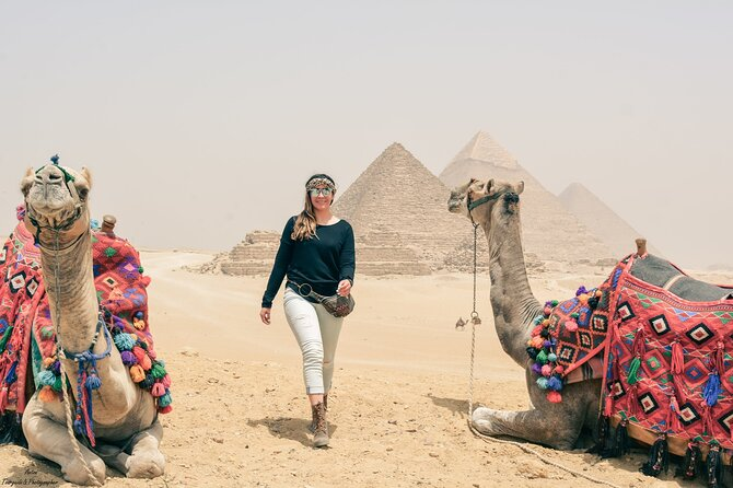 Sunset or Sunrise Camel Ride around Giza Pyramids