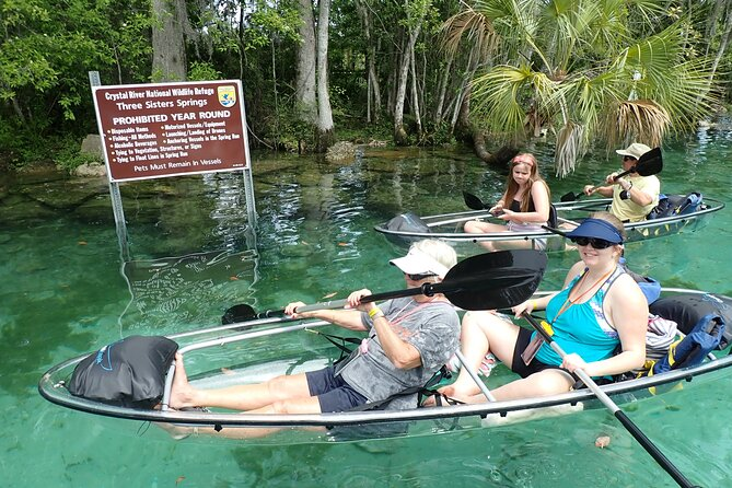 Clear Kayak Tour Of Crystal River And Three Sisters Springs