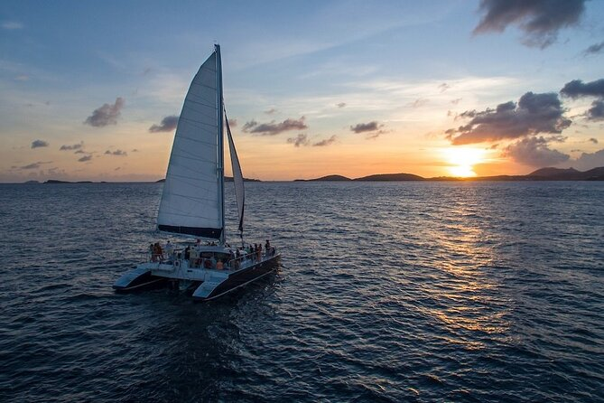 Cruz Bay Champagne Sunset Sail with Open Bar & Hors D'oeuvres