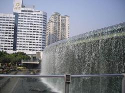 Waterscape Falls In East Station Plaza