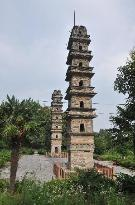 Twin Towers of Guangjiao Temple