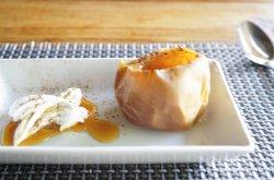 烤苹果配生奶油,舌尖的甜蜜。