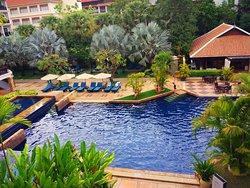 酒店内的咸水泳池