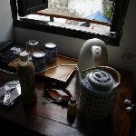 桌上的茶具