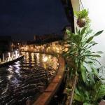露台看马六甲河夜景