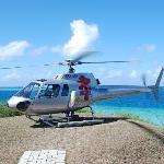 接送我们的直升机