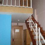 入住房间的楼梯一角