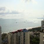 阳台上看到的海景