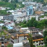 远眺中国畹町、缅甸九谷和邦赛的景色