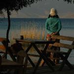 湖边观景台