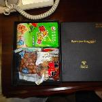 赠送的小食品