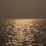 晚上的海面