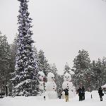在拉普兰一口气见到了好多巨型雪人