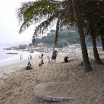 酒店前面的海滩