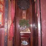 居善堂东厢房玄关处开门就能看到的盆景