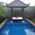 泳池和水上亭