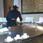在酒店里的日本料理吃饭,随手拍的,嘿嘿!没怎么拍好!