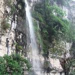 金刀峡众多瀑布中的一个小瀑布