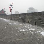 雪中的城墙