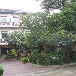 酒店前面的小花园