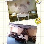 总统套房的卧室和卫生间一角