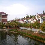 欧洲小镇式的建筑