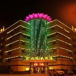 酒店外观夜景