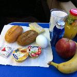 酒店准备的带走早餐
