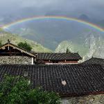 在走廊上看彩虹