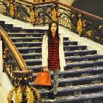 酒店的楼梯很漂亮
