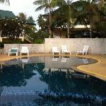 院内的泳池